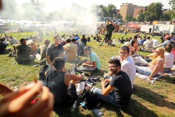 Smoking marijuana in public isn't much of a risk anymore