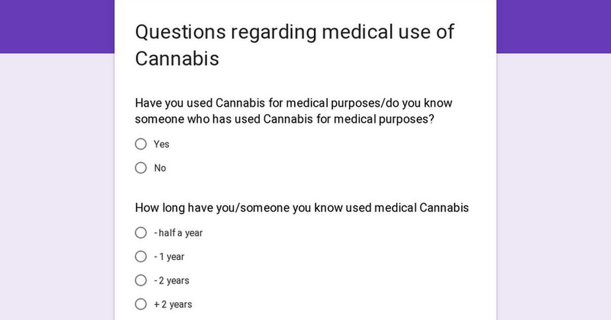 6 My survey regarding medical use of Cannabis (Patients, the Acquaintances of the Patients)
