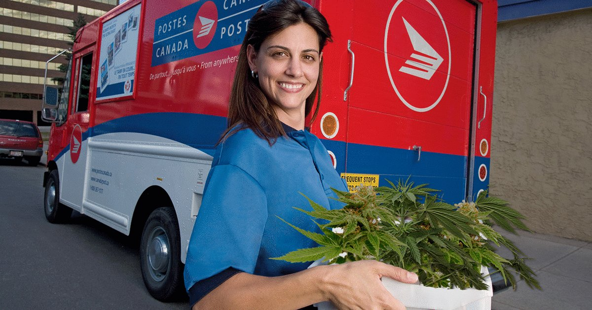 It's Official: Canada Post Will Be Delivering Marijuana Directly To Your Home