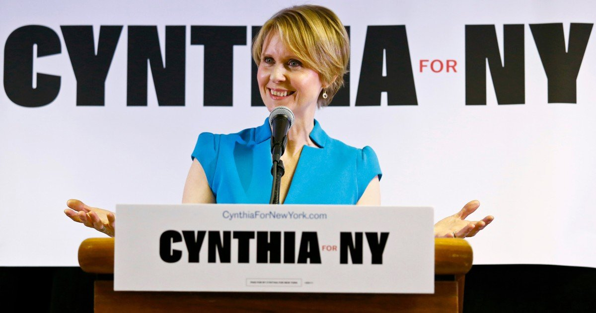 New York gubernatorial candidate Cynthia Nixon says she'll give marijuana 'another shot' if legalized in New York