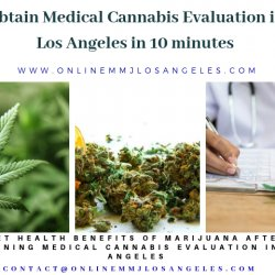 Obtain Medical Cannabis Evaluation in Los Angeles in 10 minutes