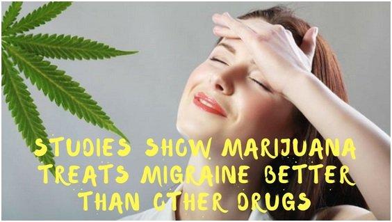 Studies show Marijuana Treats Migraine better than other Drugs