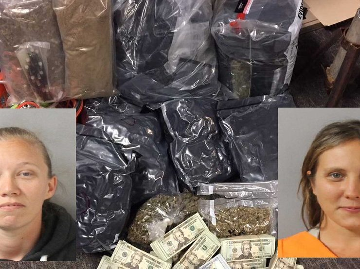 Two women arrested after 17.5 pounds marijuana, $113,000 and THC vials found in warehouses