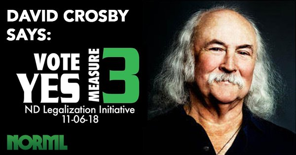 David Crosby Stars in Radio Ads for North Dakota Measure 3