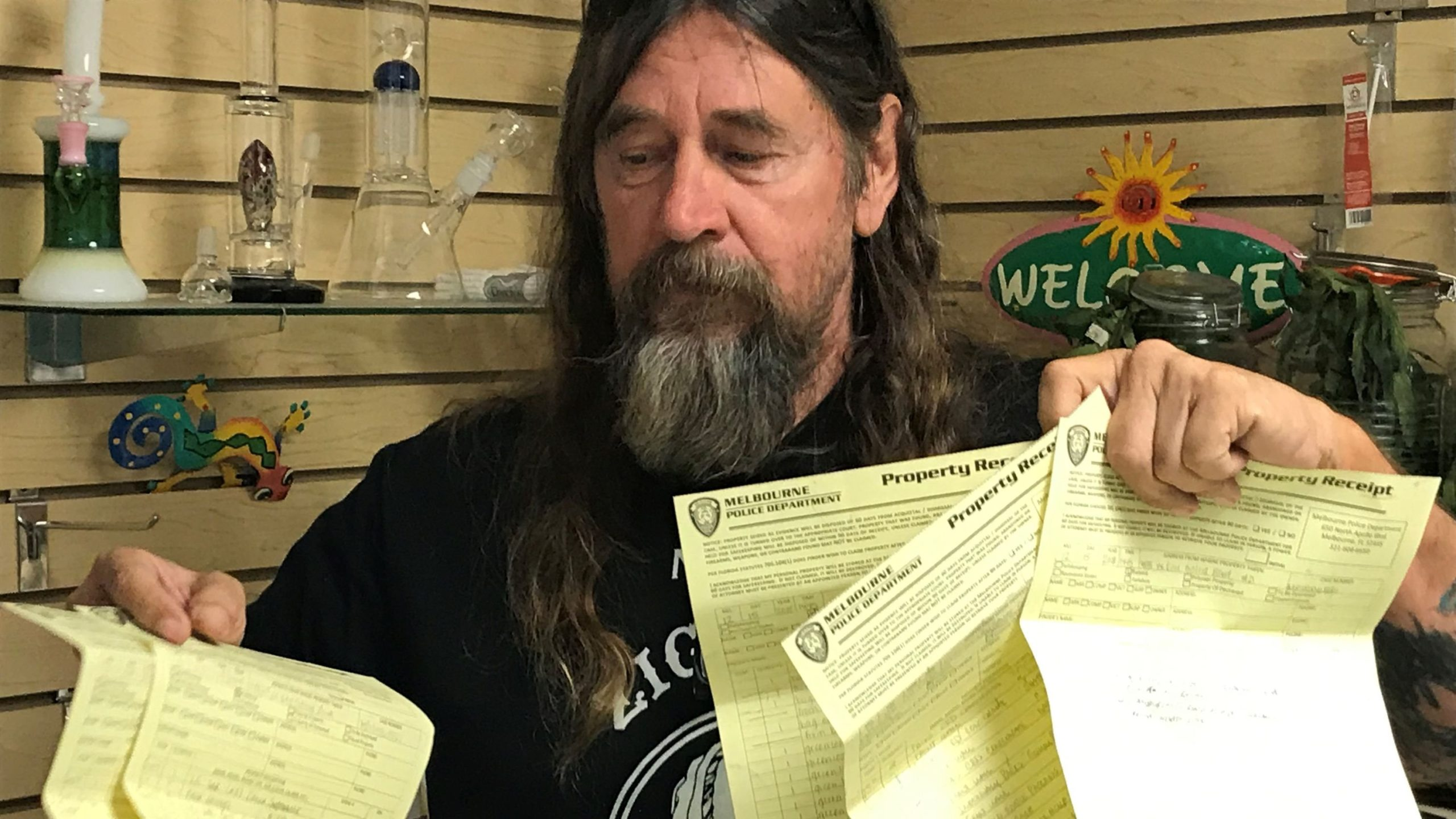 """Big pot of controversy when it comes to hemp, cannabis: Larry Friedrich found himself in a """"hemp"""" of trouble with Melbourne Police for selling a low-grade hemp product at his shop at the Renniger Flea Market in Melbourne"""