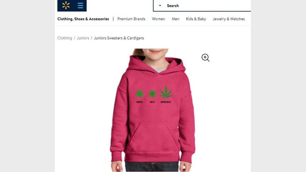 "Walmart Rolls Out Marijuana-themed Sweatshirt for St. Patrick's Day"" ""Normal, Lucky, Super lucky."""