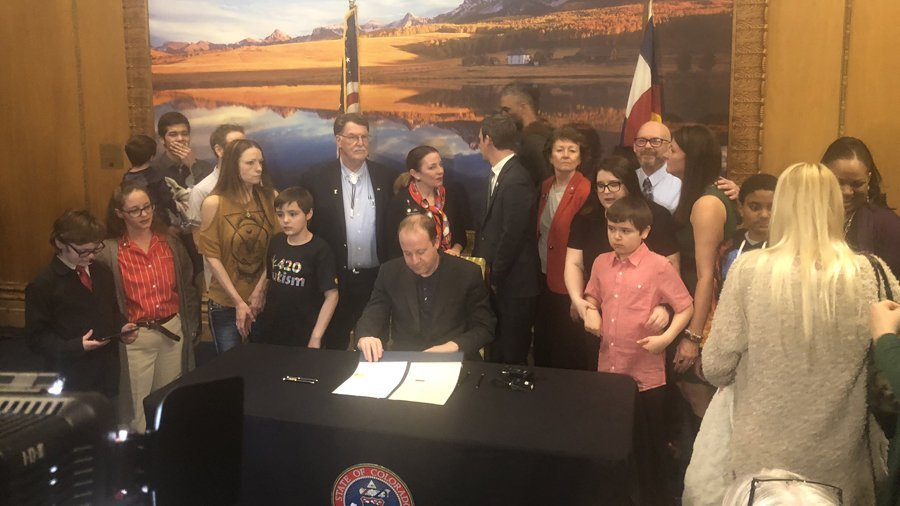 Governor Polis of Colorado signs bill to authorize medical cannabis use for autism