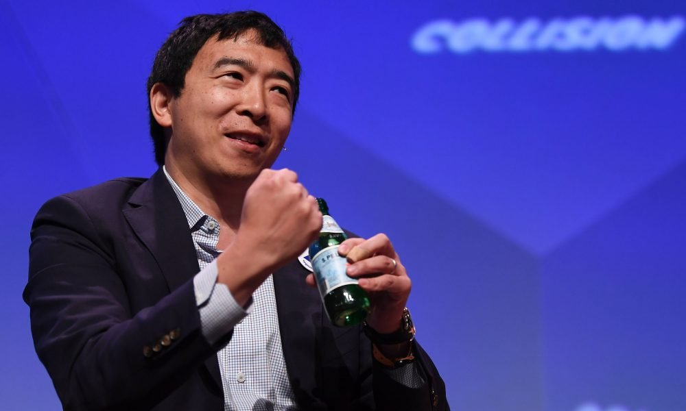"""Presidential candidate Andrew Yang: """"I would legalize marijuana and I would pardon everyone who's in jail for a non-violent, drug-related offense. I would pardon them all on April 20, 2021 and I would high five them on their way out of jail."""""""