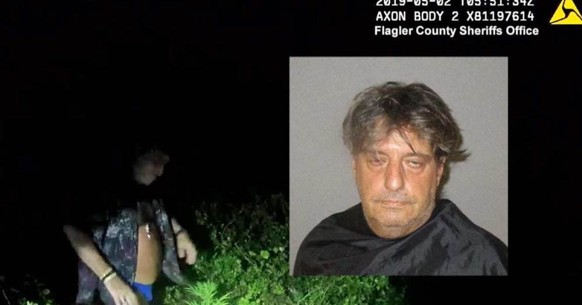 65-year-old Florida man in speedo waves down cops, shows off pot plant