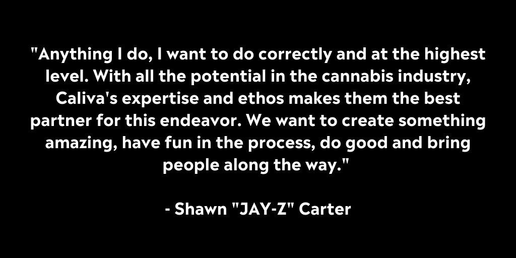 "Shawn ""Jay-Z"" Carter & Caliva Enter Long-term Partnership 