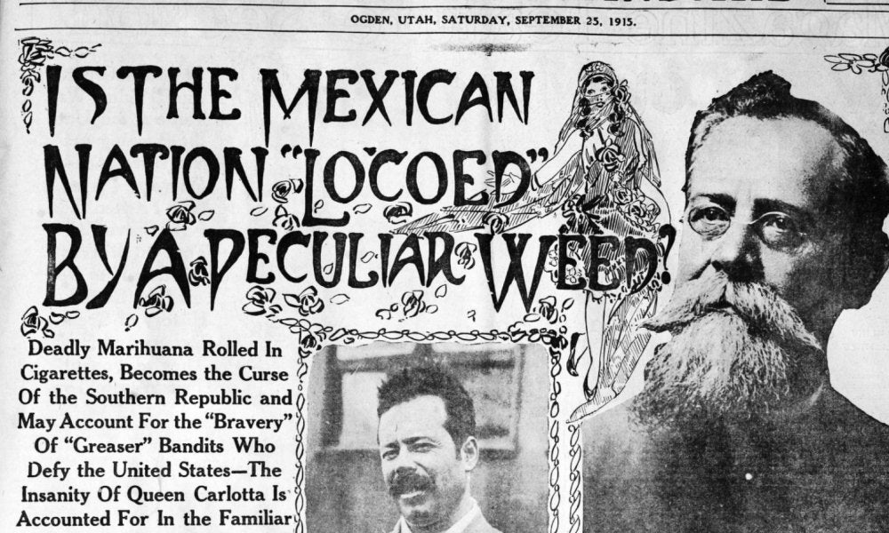 Library Of Congress Highlights Racist News Coverage Used To Justify Criminalizing Marijuana A Century Ago