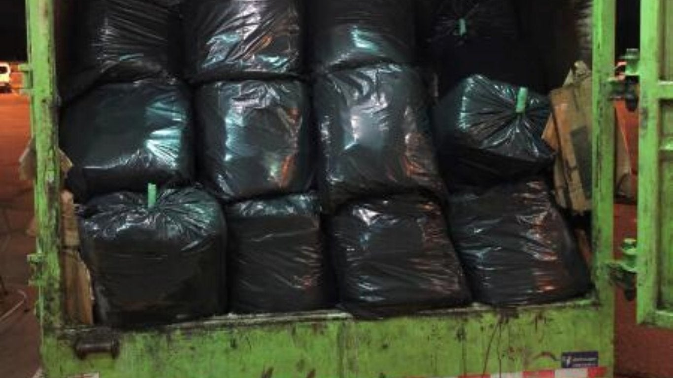 US border agents nab more than 1,000 pounds of cannabis hidden in garbage truck at Canadian border